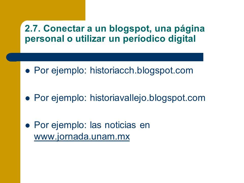 2.7. Conectar a un blogspot, una página personal o utilizar un períodico digital