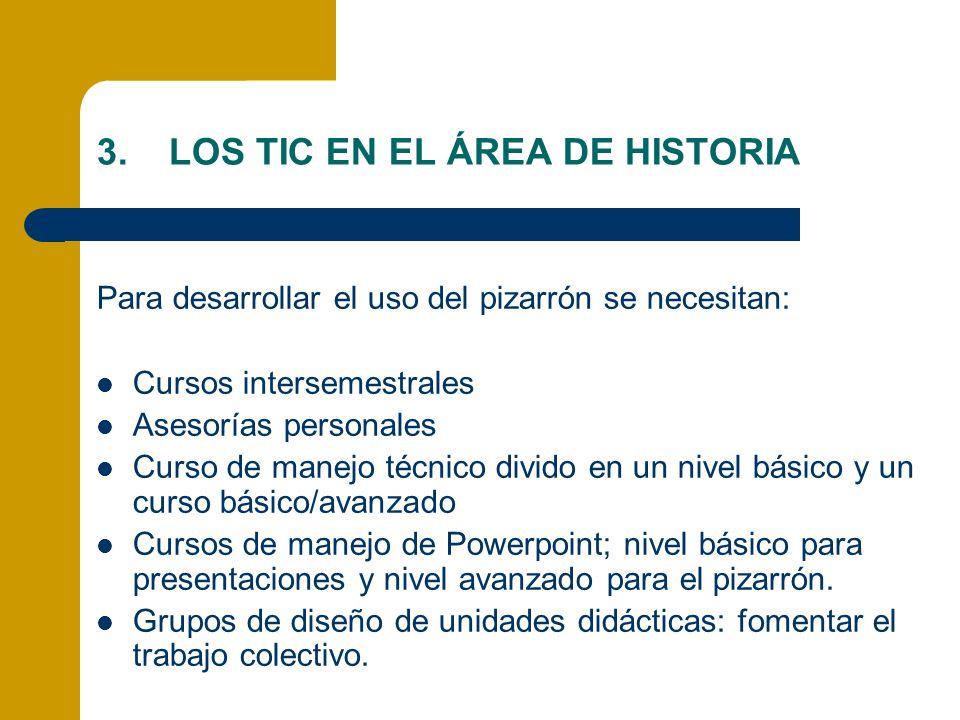 LOS TIC EN EL ÁREA DE HISTORIA