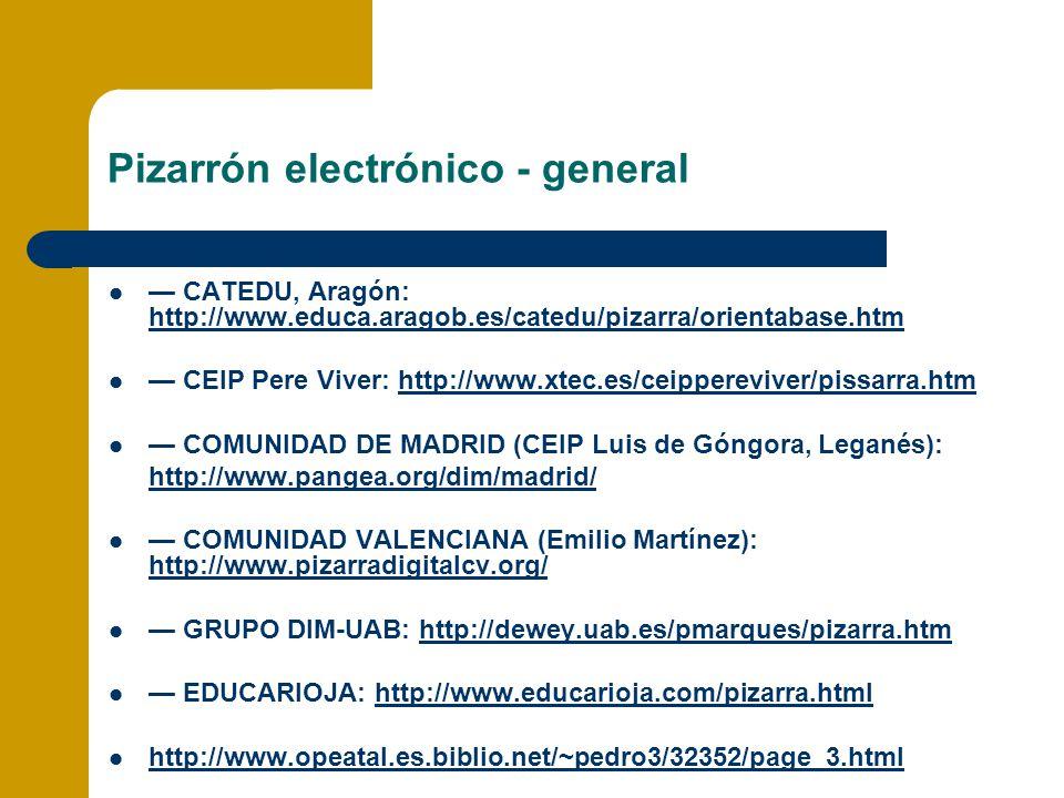 Pizarrón electrónico - general