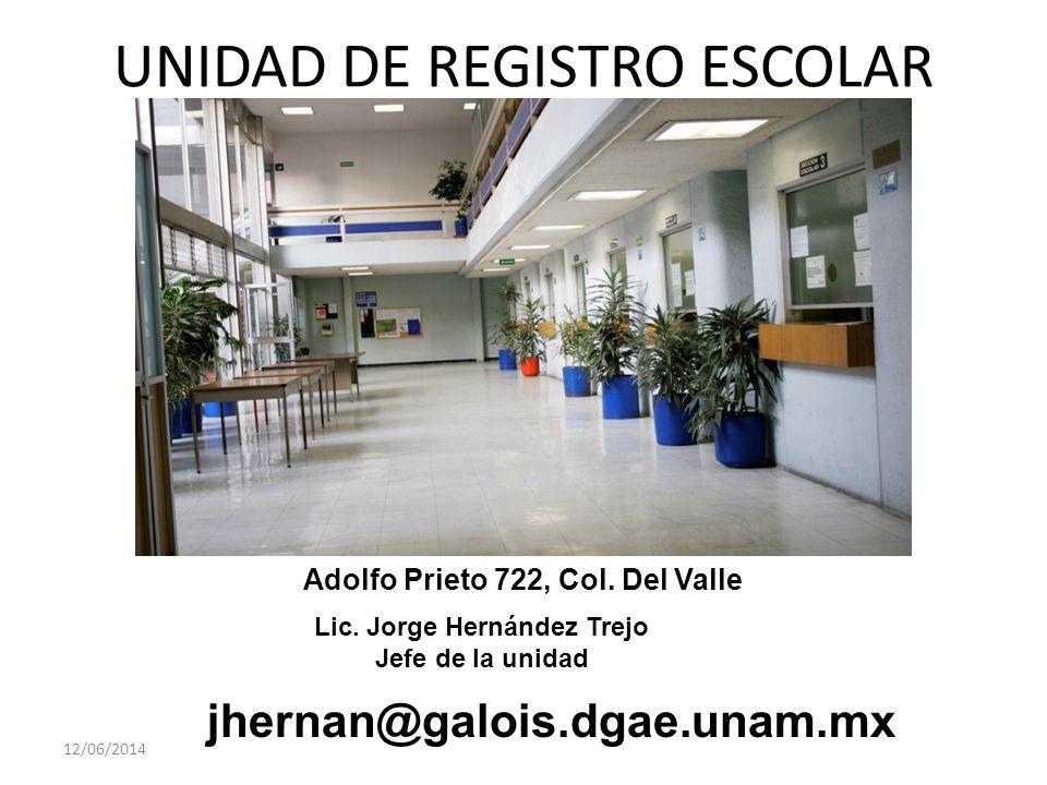 UNIDAD DE REGISTRO ESCOLAR