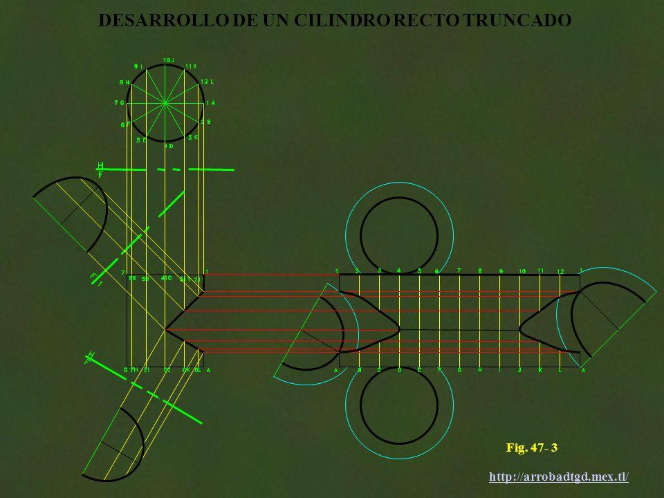 DESARROLLO DE UN CILINDRO RECTO TRUNCADO