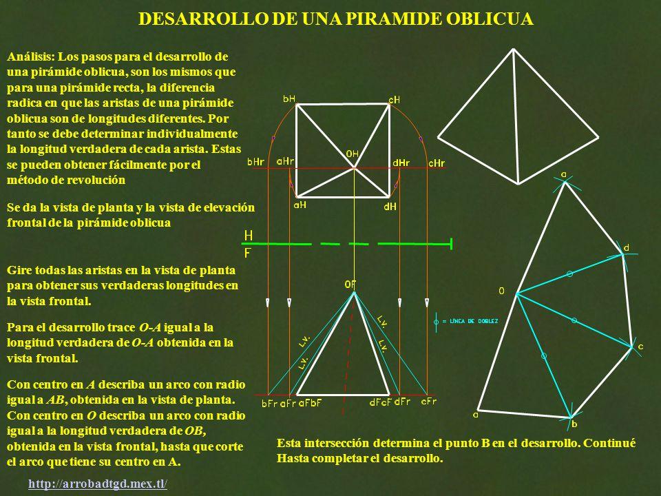 DESARROLLO DE UNA PIRAMIDE OBLICUA