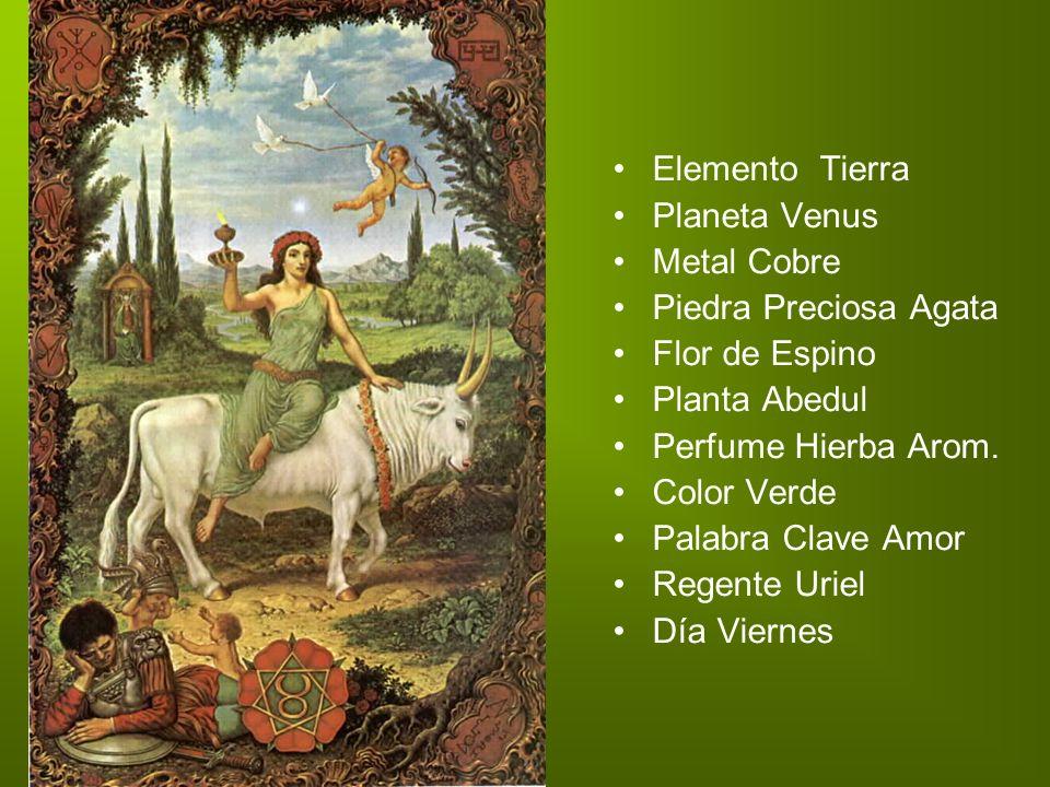 Elemento Tierra Planeta Venus Metal Cobre Piedra Preciosa Agata Flor de Espino. Planta Abedul Perfume Hierba Arom.