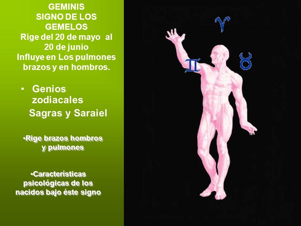 Genios zodiacales Sagras y Saraiel