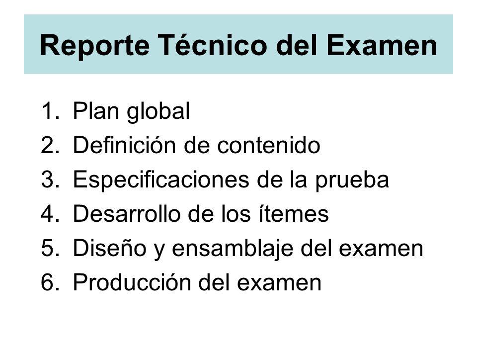 Reporte Técnico del Examen