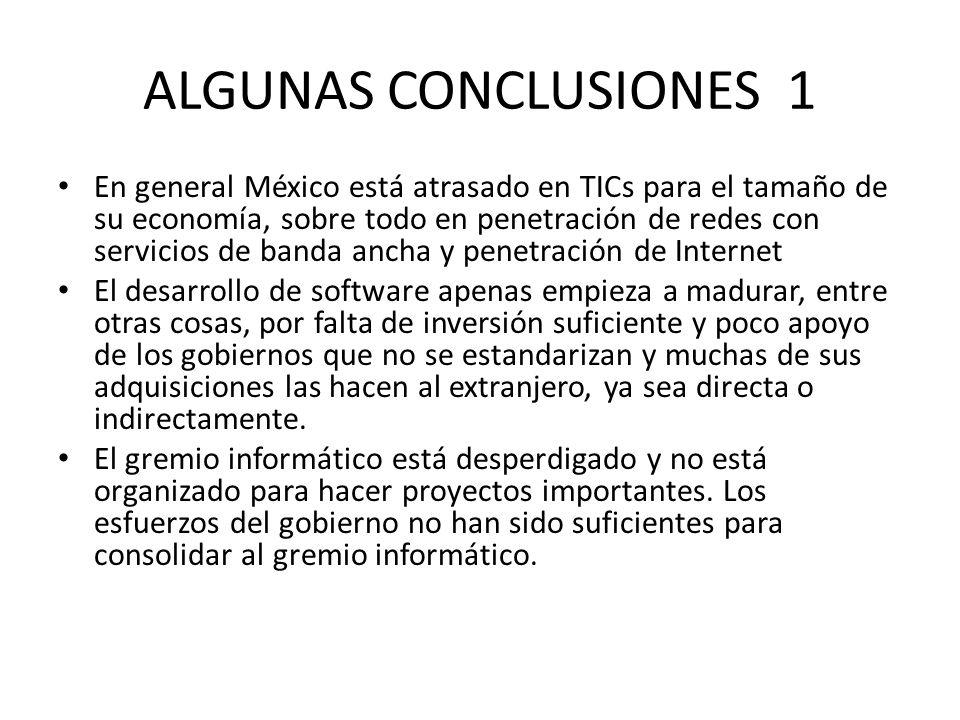 ALGUNAS CONCLUSIONES 1