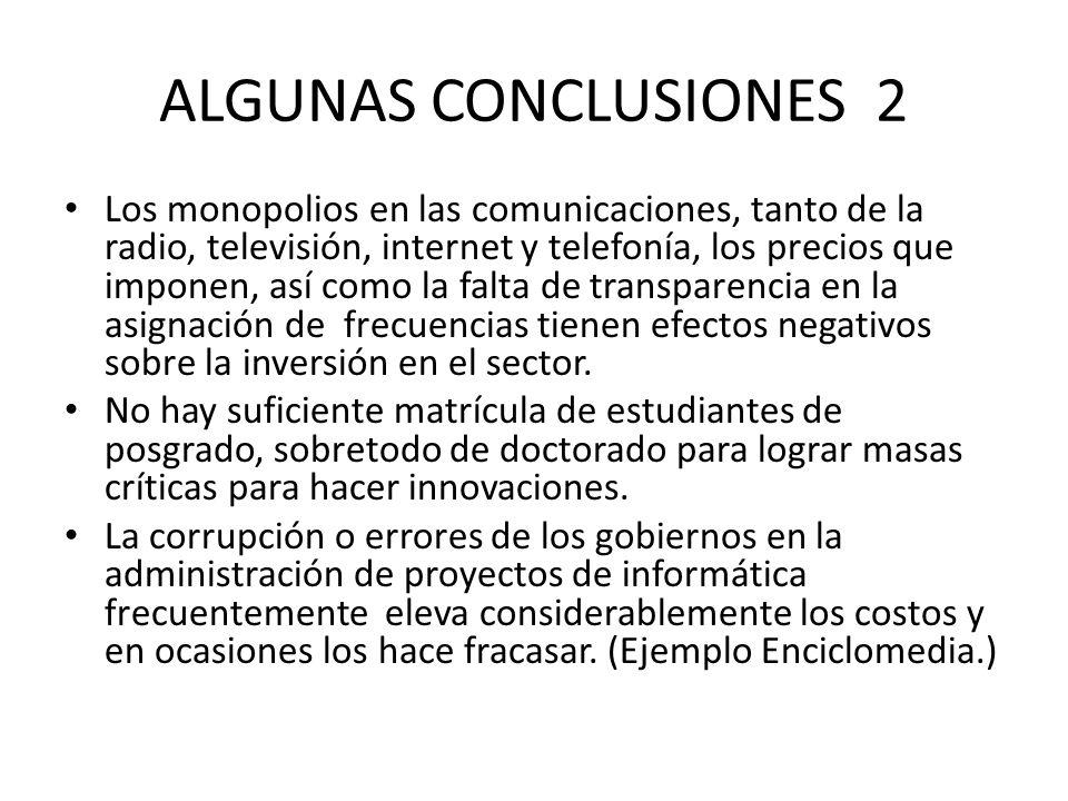 ALGUNAS CONCLUSIONES 2