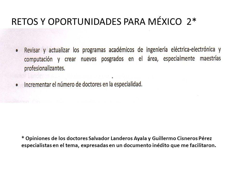RETOS Y OPORTUNIDADES PARA MÉXICO 2*