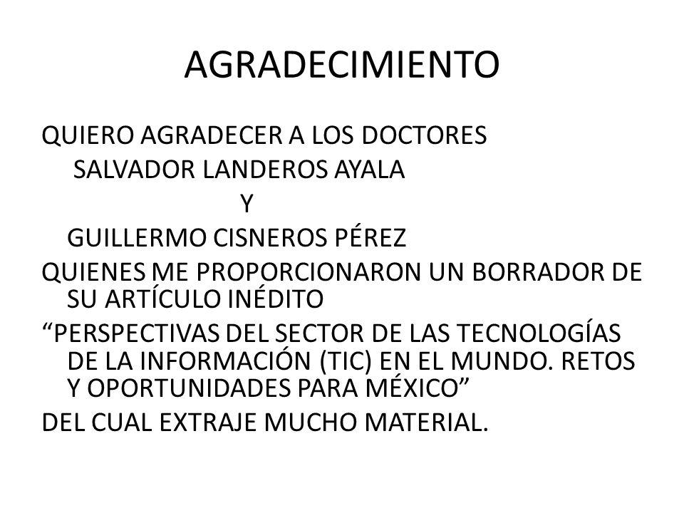 AGRADECIMIENTO QUIERO AGRADECER A LOS DOCTORES SALVADOR LANDEROS AYALA