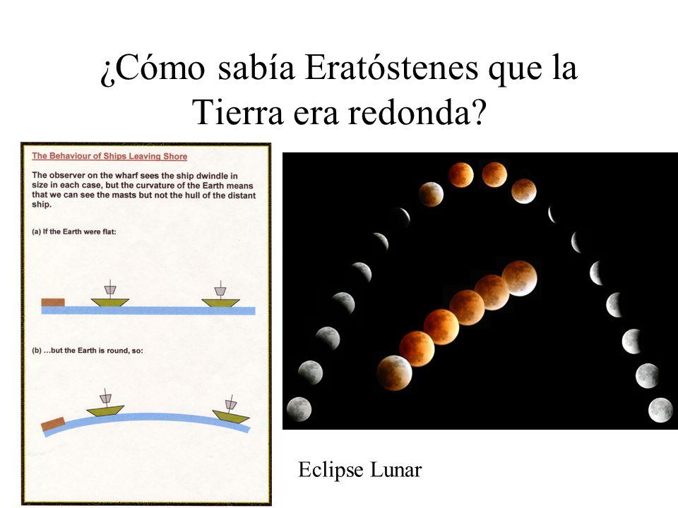 ¿Cómo sabía Eratóstenes que la Tierra era redonda