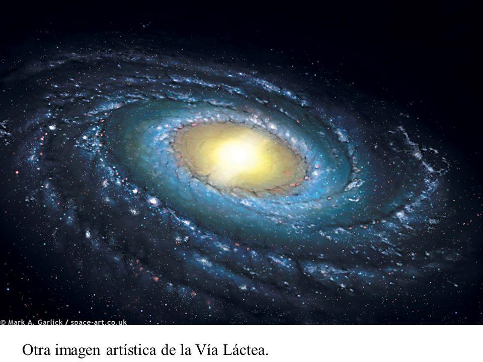 Otra imagen artística de la Vía Láctea.
