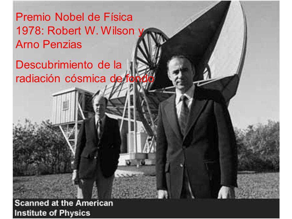 Premio Nobel de Física 1978: Robert W. Wilson y Arno Penzias