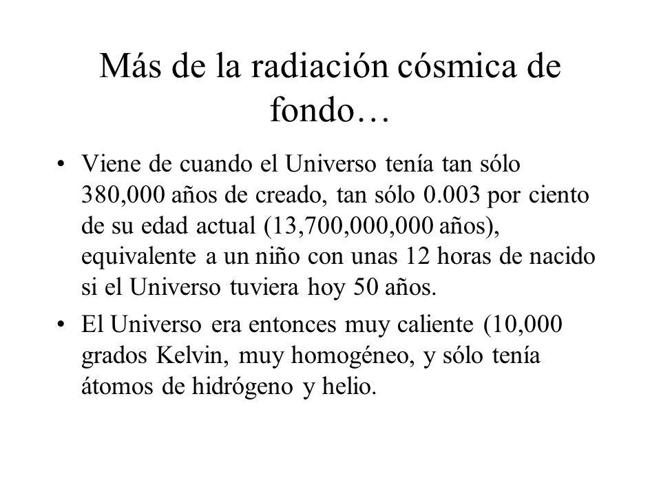 Más de la radiación cósmica de fondo…