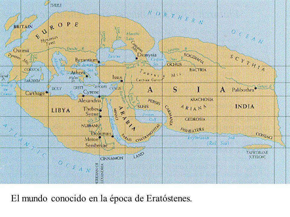 El mundo conocido en la época de Eratóstenes.