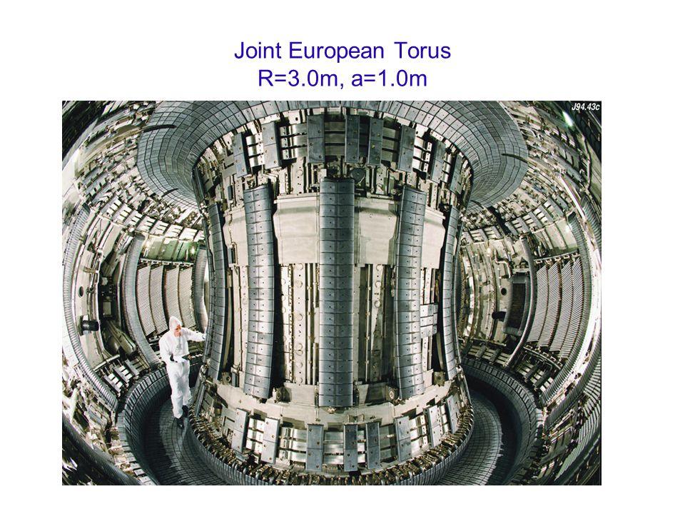 Joint European Torus R=3.0m, a=1.0m
