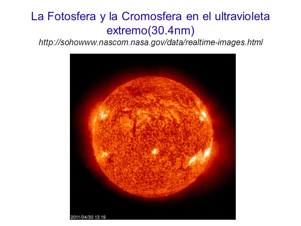 La Fotosfera y la Cromosfera en el ultravioleta extremo(30
