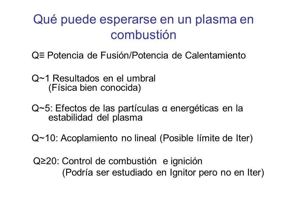 Qué puede esperarse en un plasma en combustión
