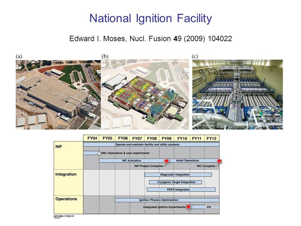 National Ignition Facility Edward I. Moses, Nucl