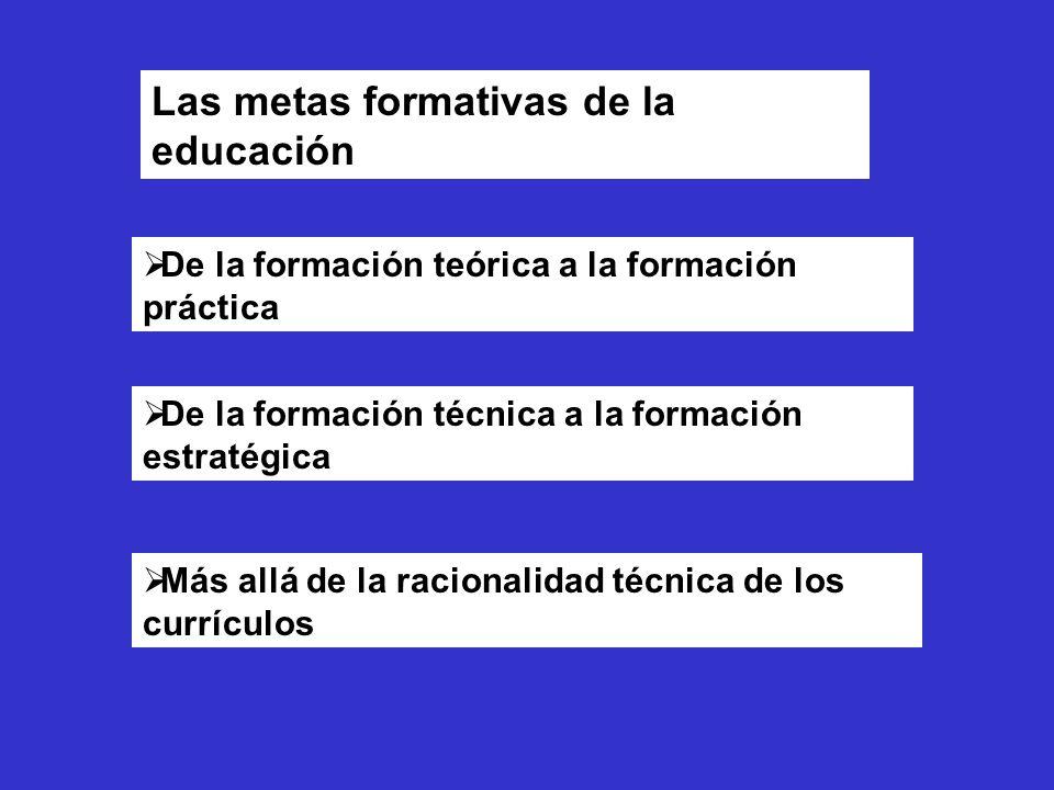 Las metas formativas de la educación
