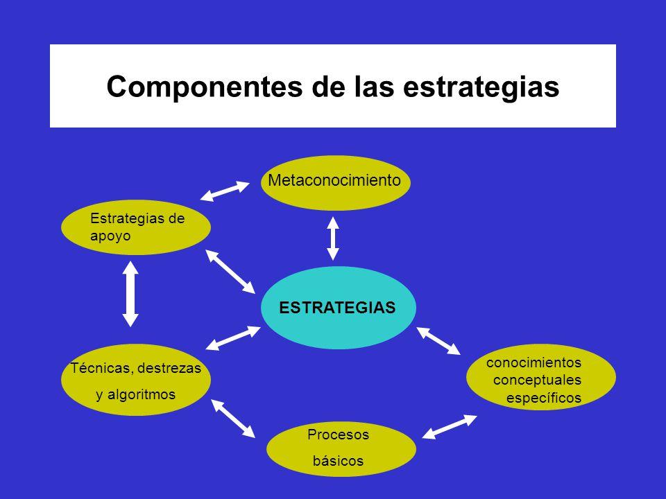 Componentes de las estrategias