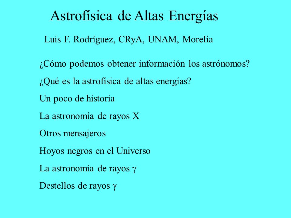 Astrofísica de Altas Energías