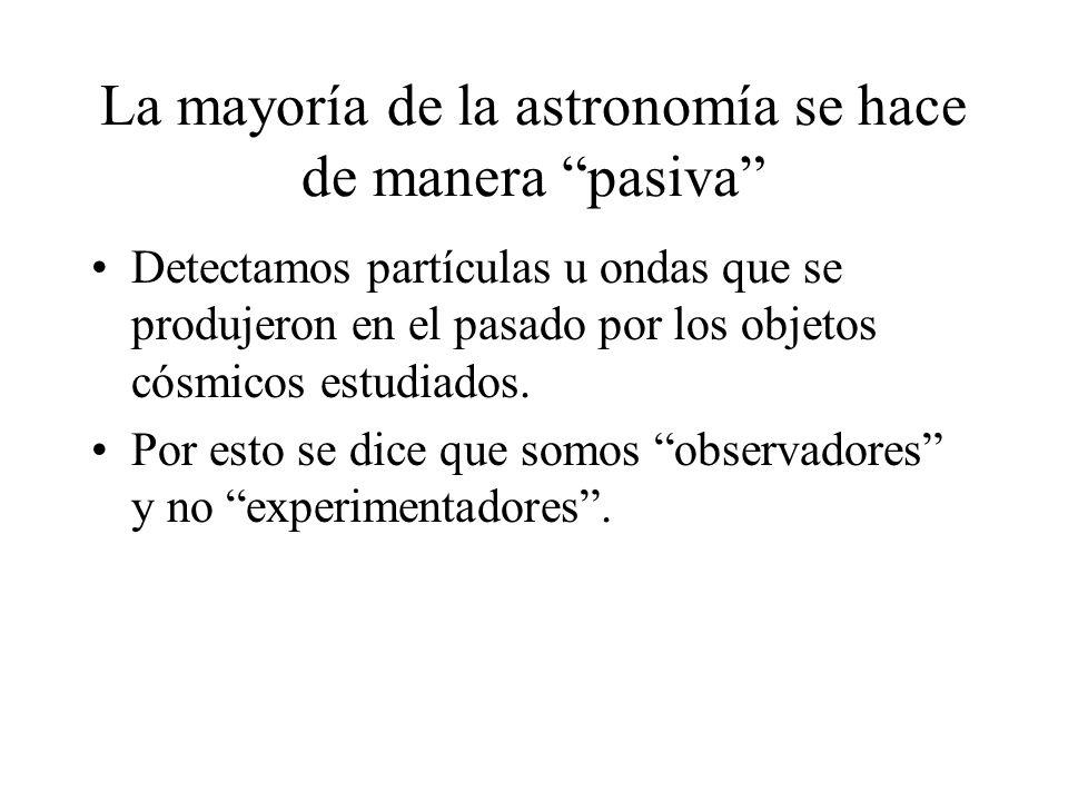 La mayoría de la astronomía se hace de manera pasiva