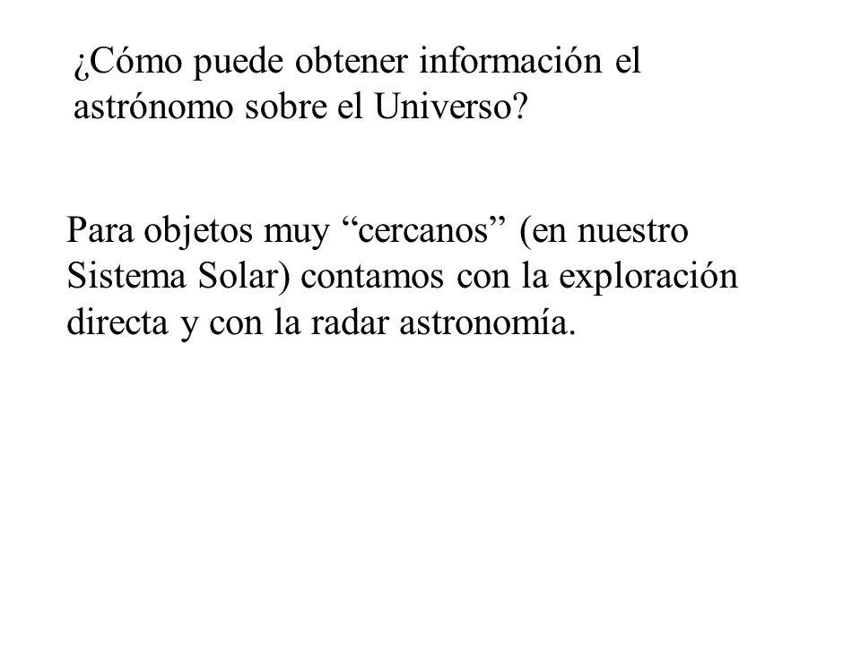 ¿Cómo puede obtener información el astrónomo sobre el Universo
