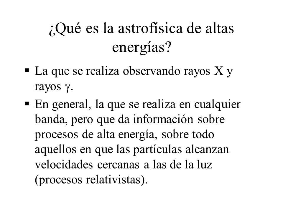 ¿Qué es la astrofísica de altas energías