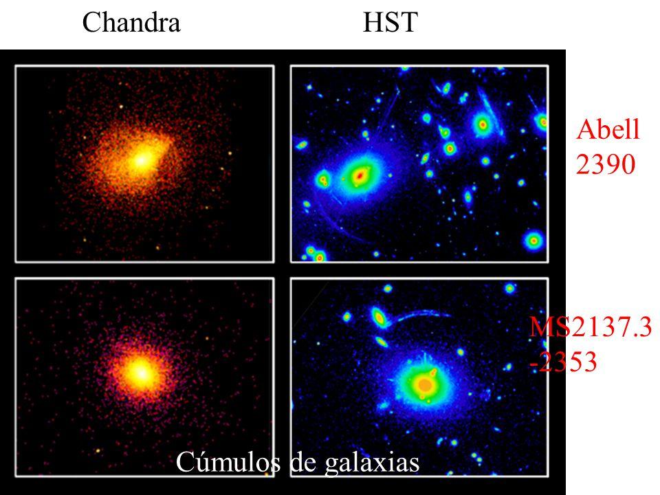 Chandra HST Abell 2390 MS2137.3-2353 Cúmulos de galaxias