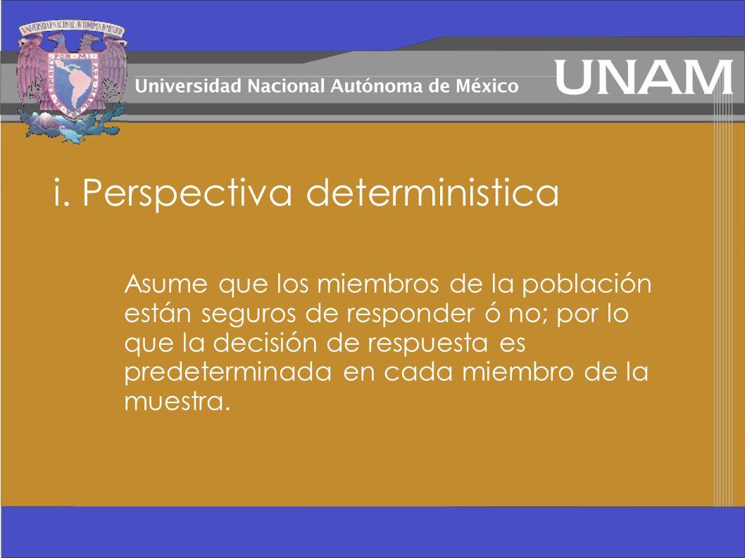 i. Perspectiva deterministica