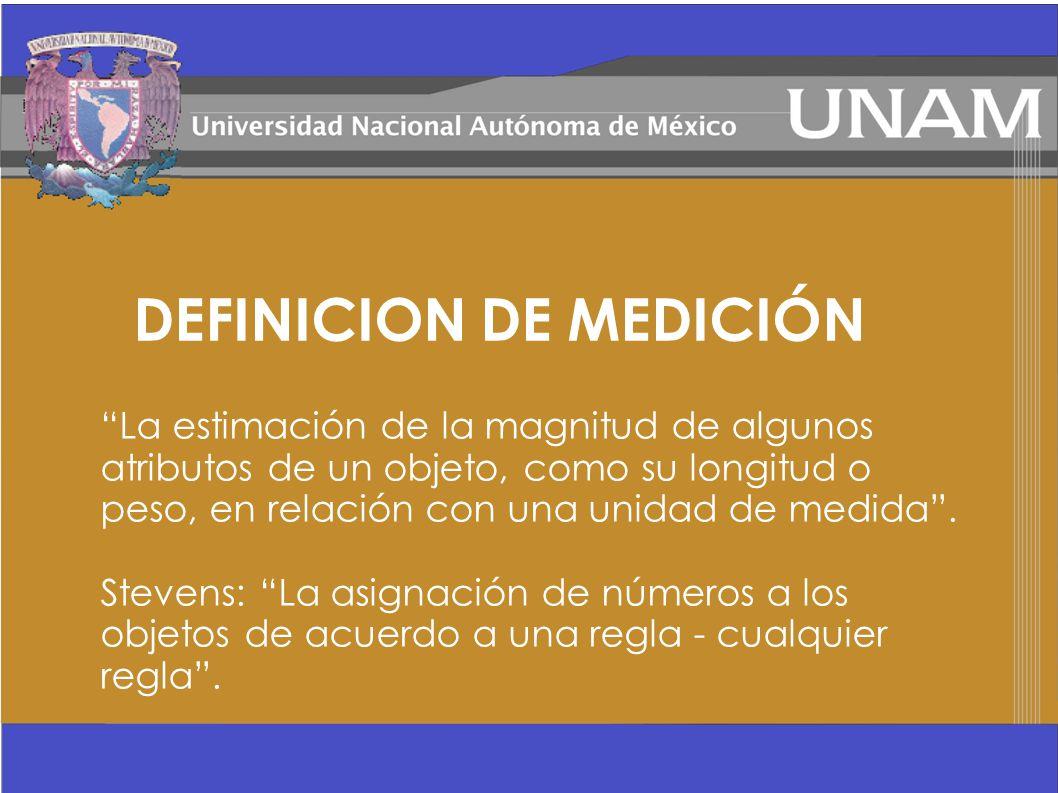 DEFINICION DE MEDICIÓN