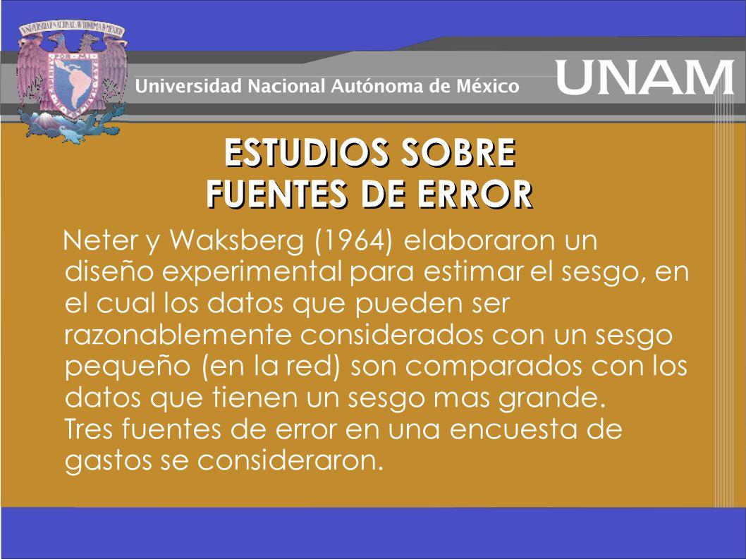 ESTUDIOS SOBRE FUENTES DE ERROR