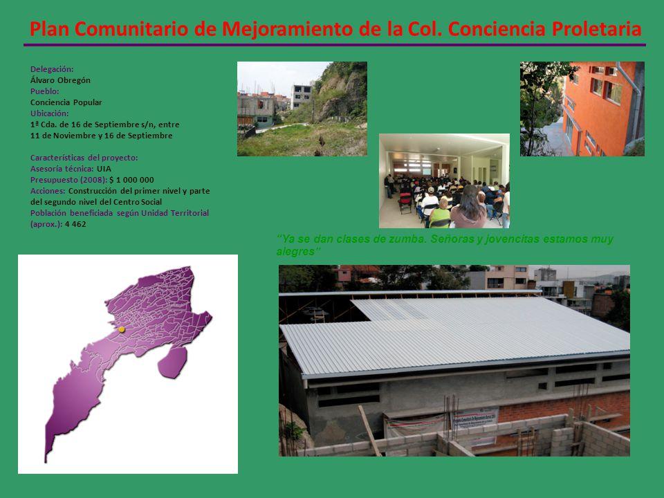 Plan Comunitario de Mejoramiento de la Col. Conciencia Proletaria