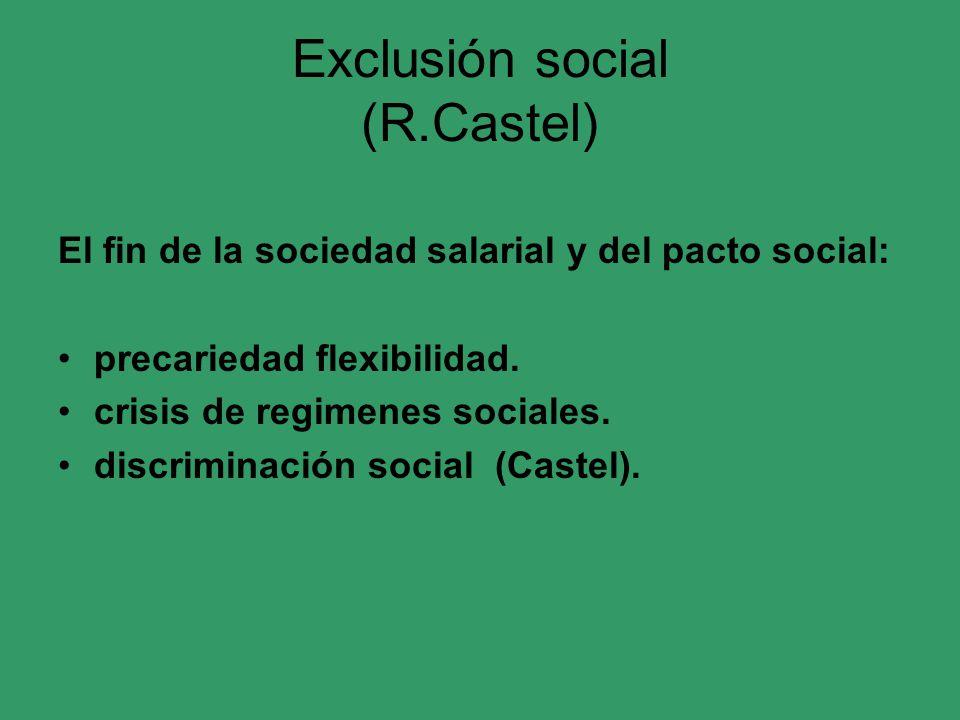 Exclusión social (R.Castel)