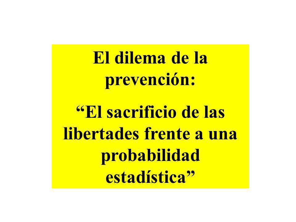 El dilema de la prevención: