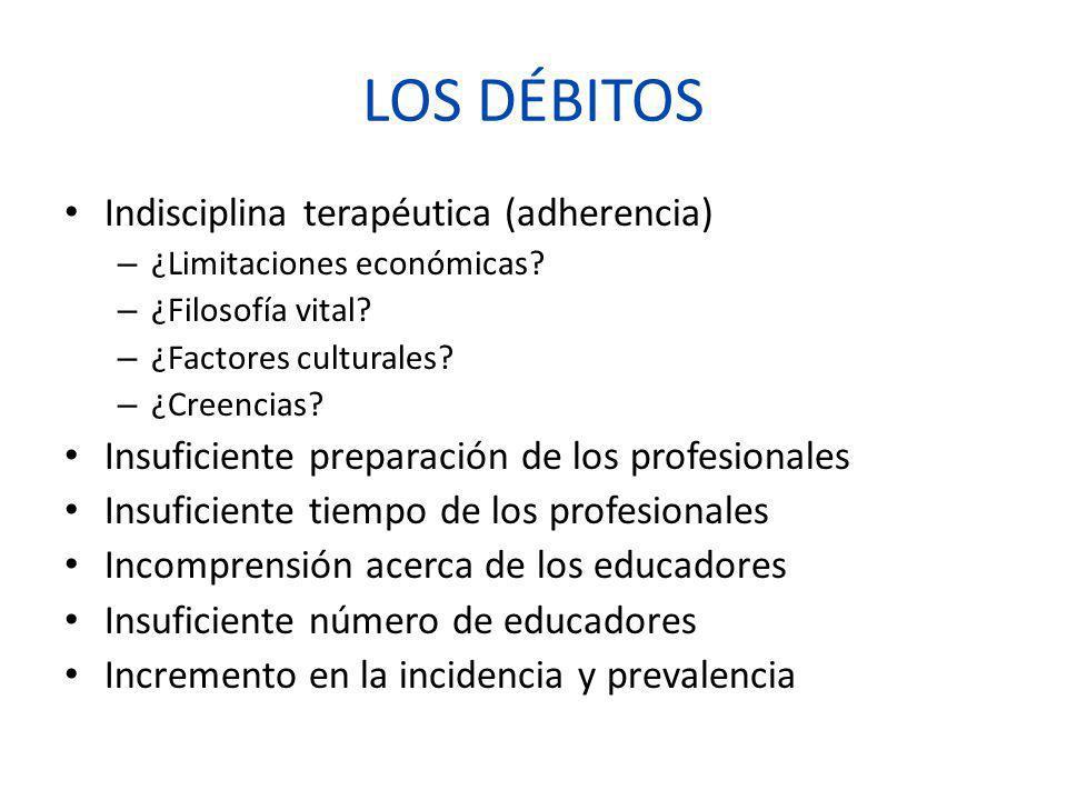 LOS DÉBITOS Indisciplina terapéutica (adherencia)