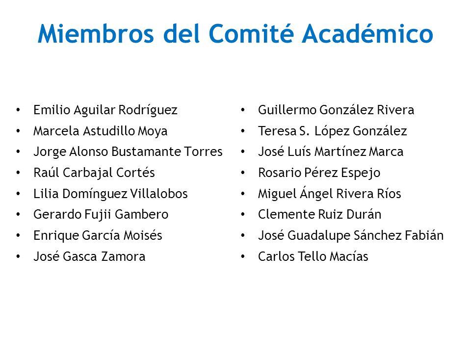 Miembros del Comité Académico