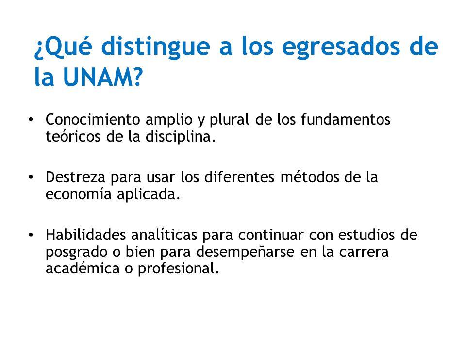 ¿Qué distingue a los egresados de la UNAM