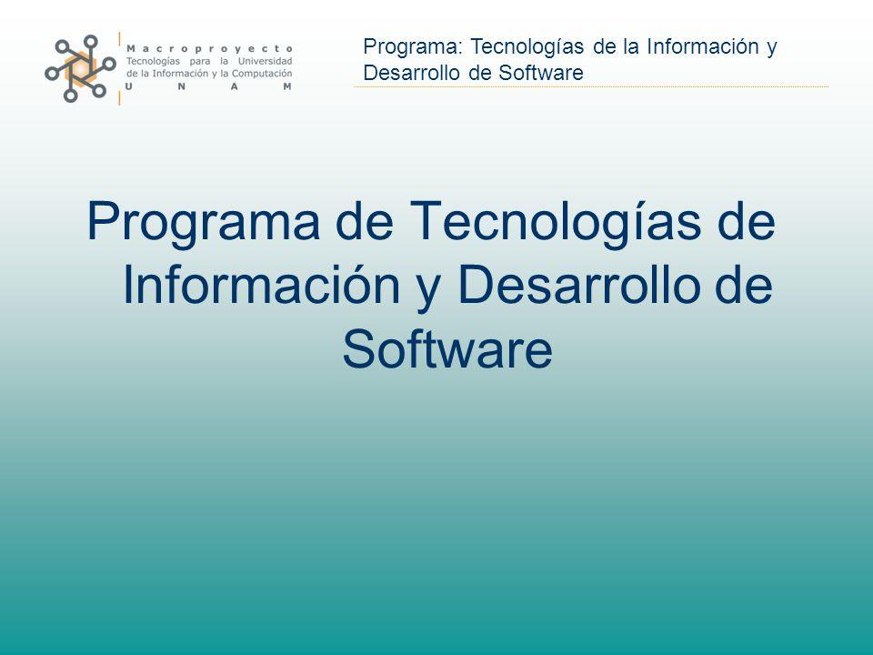 Programa de Tecnologías de Información y Desarrollo de Software