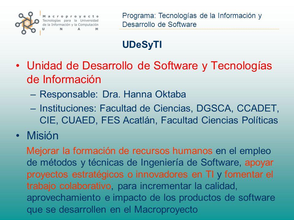 Unidad de Desarrollo de Software y Tecnologías de Información