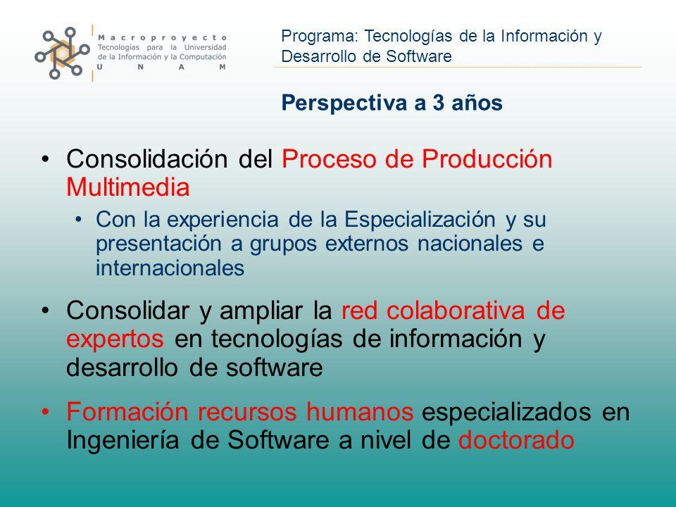 Consolidación del Proceso de Producción Multimedia