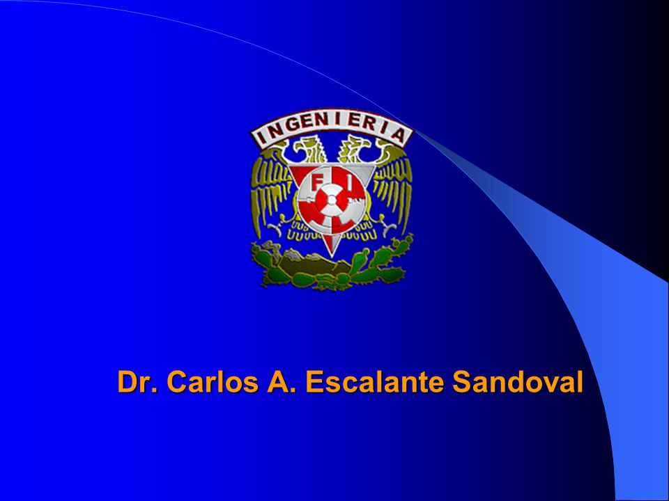 Dr. Carlos A. Escalante Sandoval