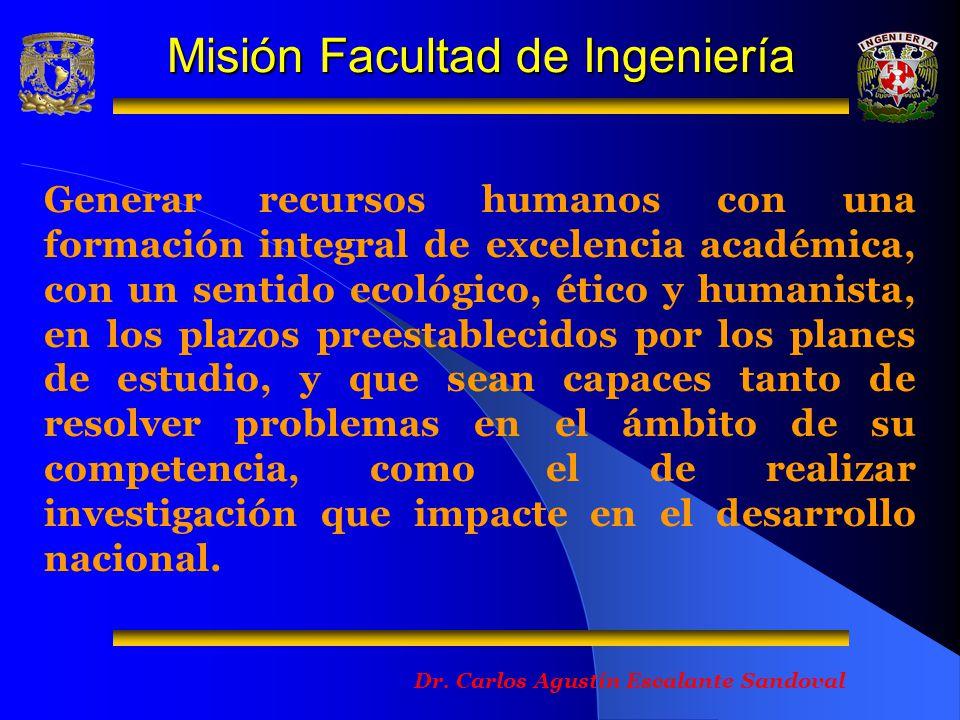 Misión Facultad de Ingeniería
