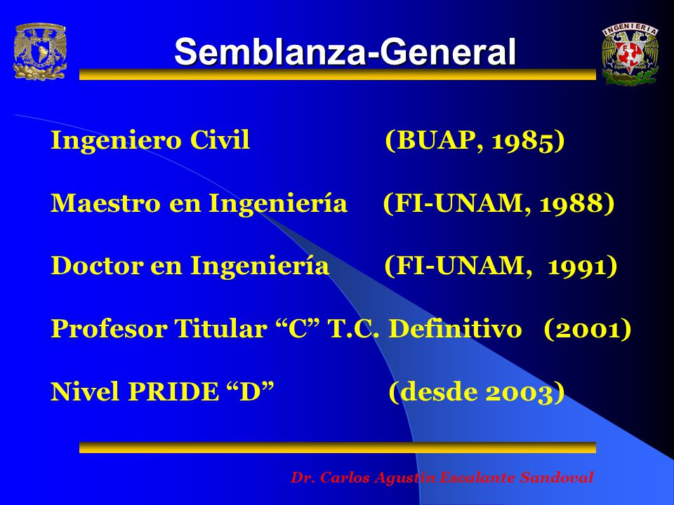 Semblanza-General Ingeniero Civil (BUAP, 1985)