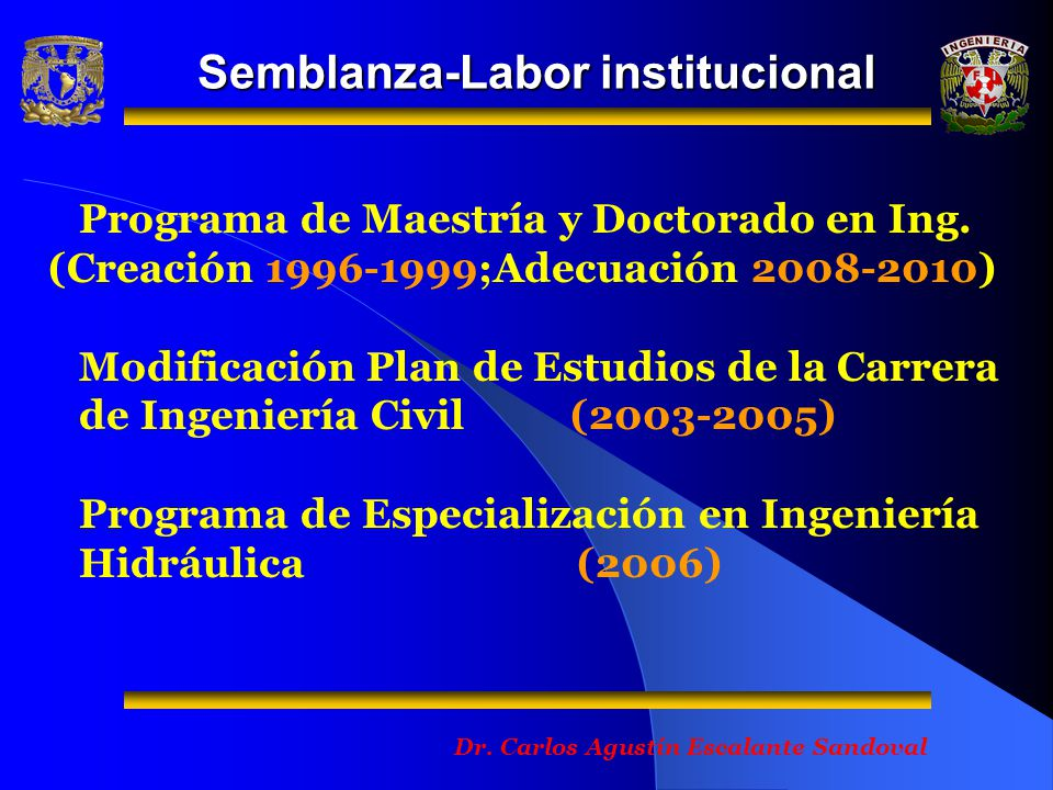 Semblanza-Labor institucional