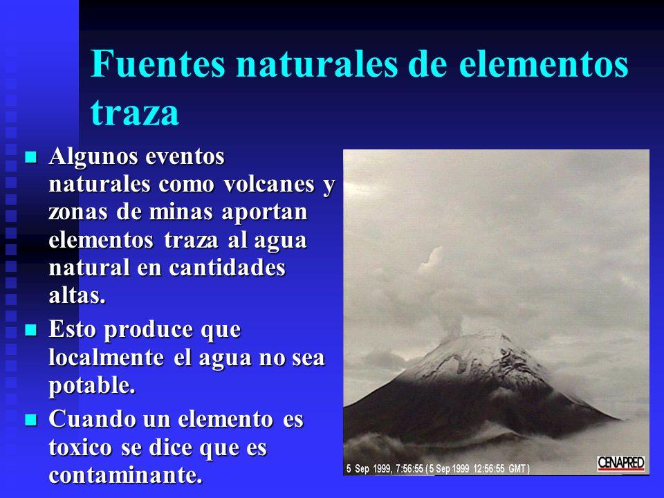 Fuentes naturales de elementos traza