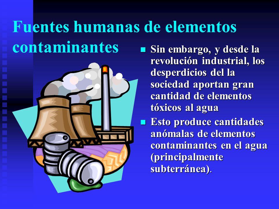 Fuentes humanas de elementos contaminantes