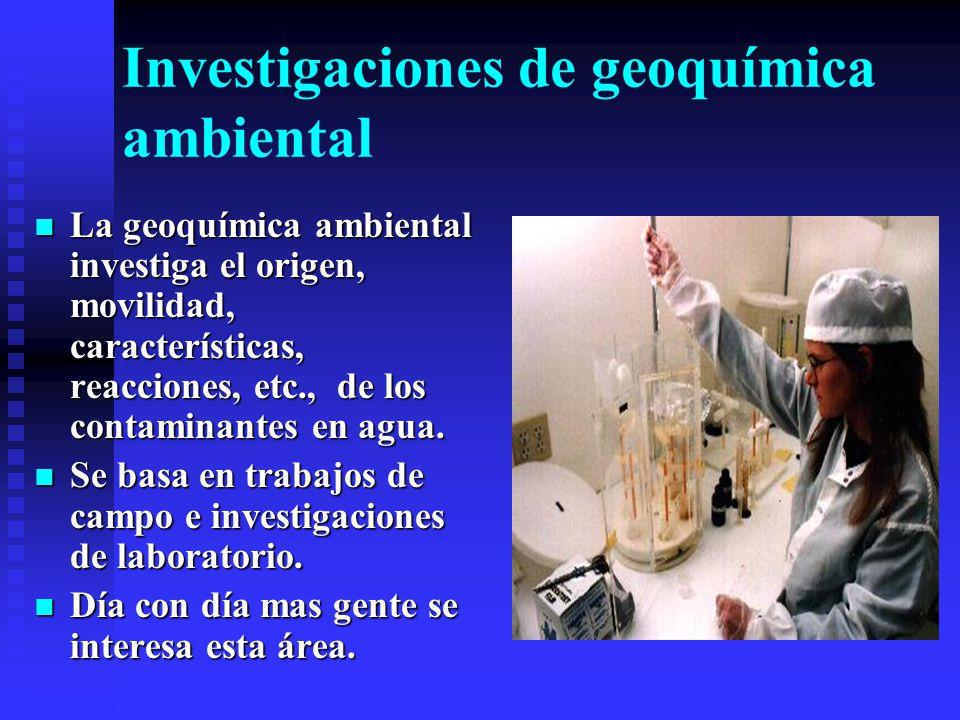 Investigaciones de geoquímica ambiental