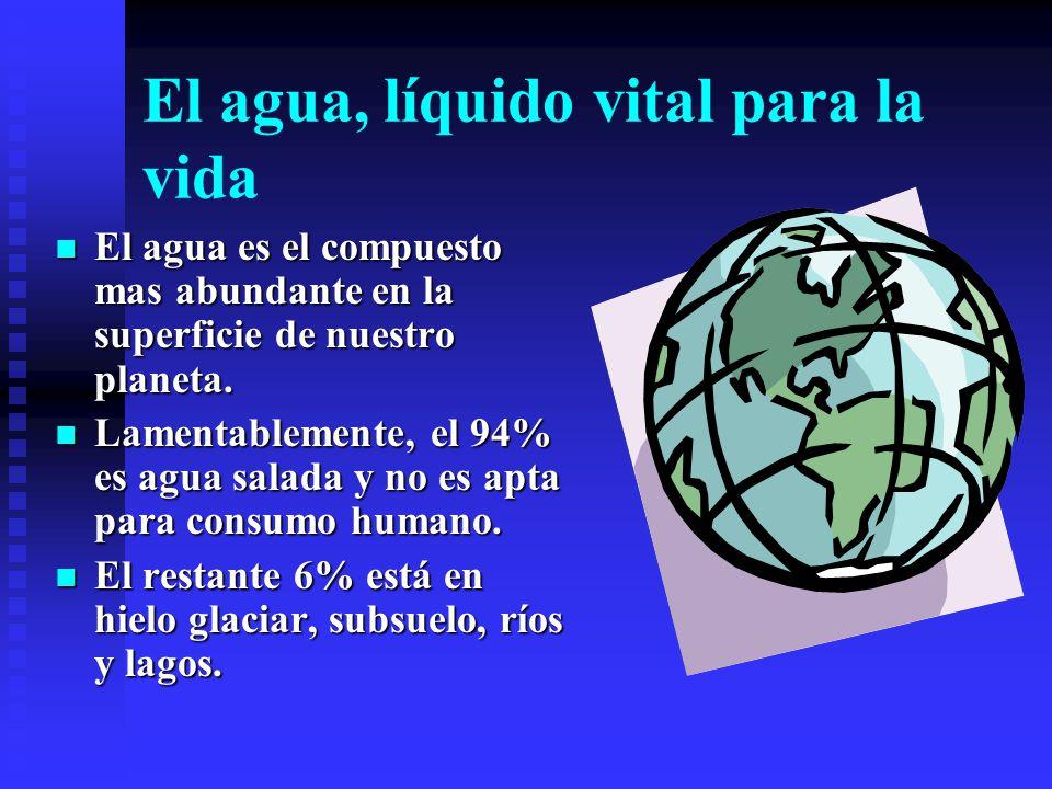 El agua, líquido vital para la vida