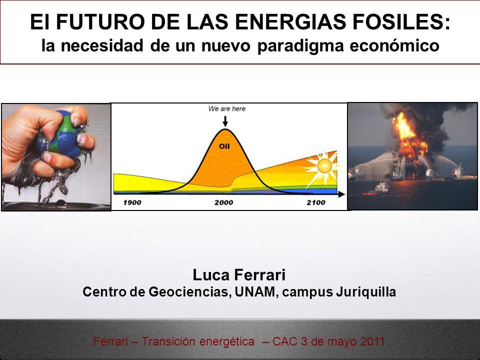 El FUTURO DE LAS ENERGIAS FOSILES:
